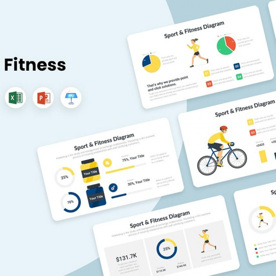 Fitness and Sport Diagrams Infographics