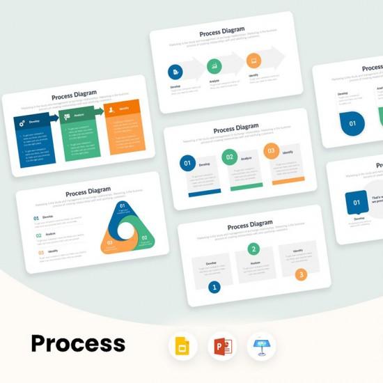 Process Diagrams Infographics