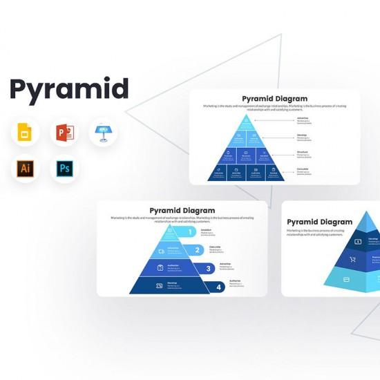 Pyramid Diagram Infographics