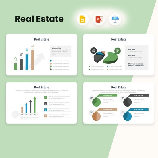 Real Estate Diagrams Infographics