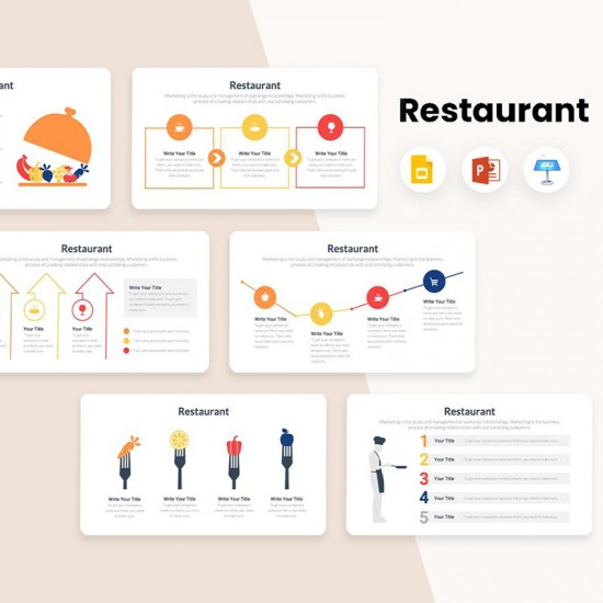 Restaurant Diagrams Infographics