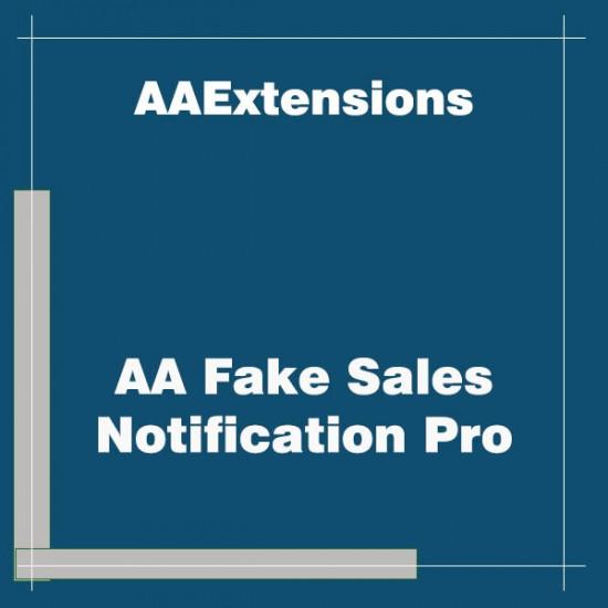 AA Fake Sales Notification Pro Joomla Extension