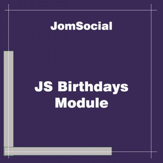 JS Birthdays Module