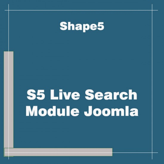 S5 Live Search Module Joomla