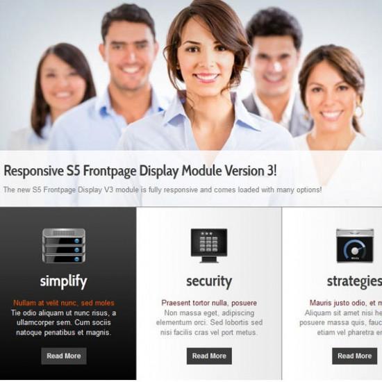 S5 Frontpage Display 3 Module Joomla