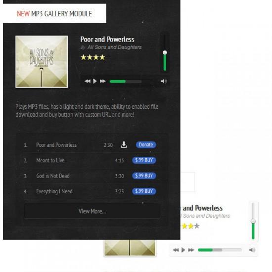 S5 MP3 Gallery Module Joomla