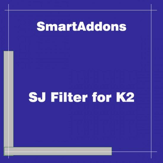 SJ Filter for K2 Joomla Extension
