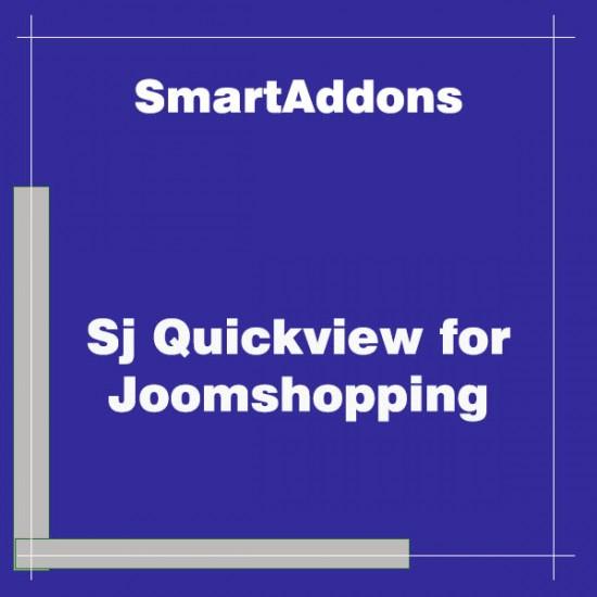 Sj Quickview for Joomshopping Joomla Plugin