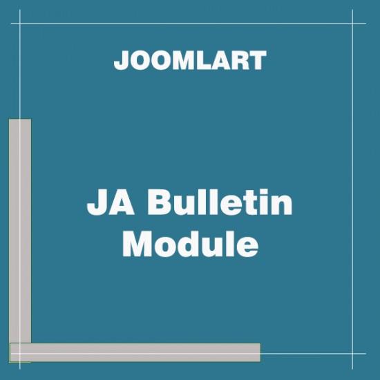 JA Bulletin Module