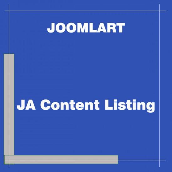 JA Content Listing Joomla Module