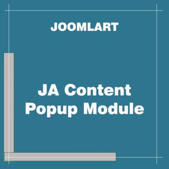 JA Content Popup Module