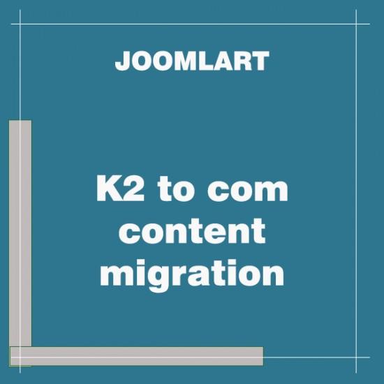 K2 to com content migration