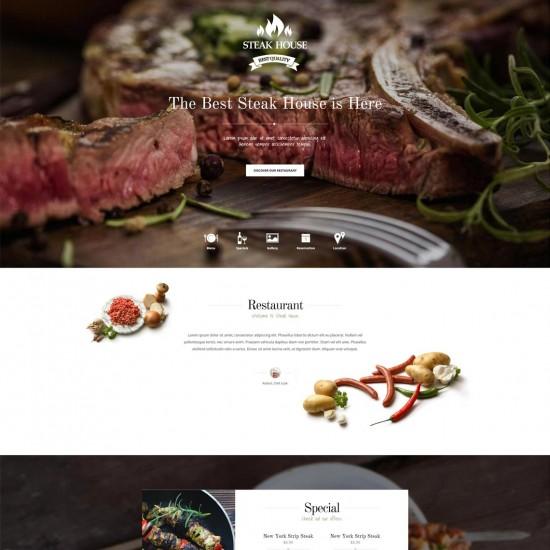 GK Steakhouse Joomla Template
