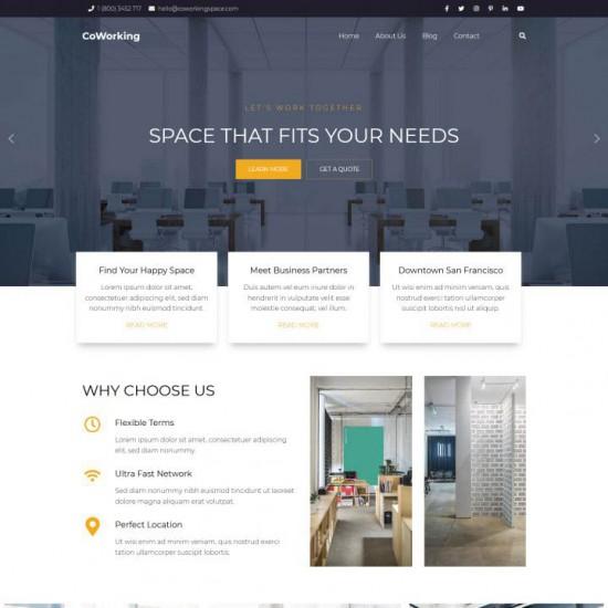 HotThemes Coworking Joomla Template