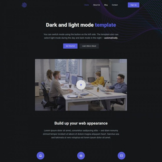 HotThemes Dark Mode Joomla Template