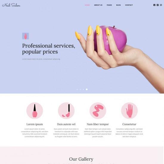 HotThemes Nail Salon Joomla Template