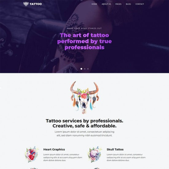HotThemes Tattoo Joomla Template