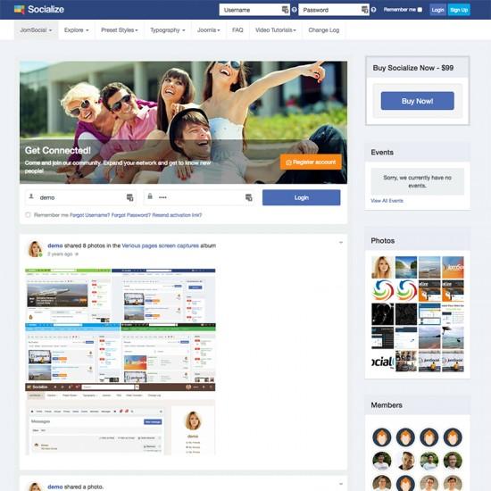 Socialize Joomla Template