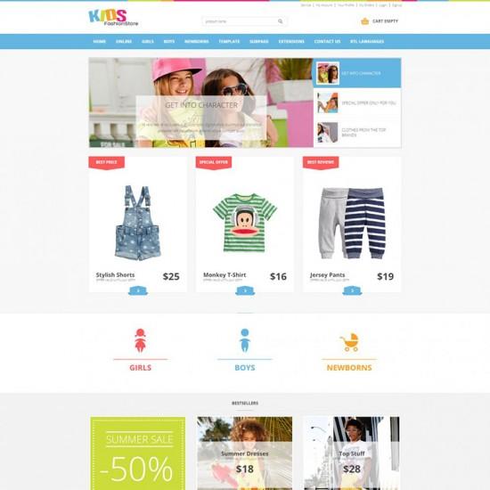 JM Kids Fashion VirtueMart Store Joomla Template