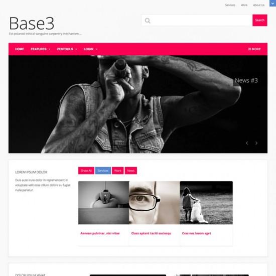 JB Base 3 Joomla Template
