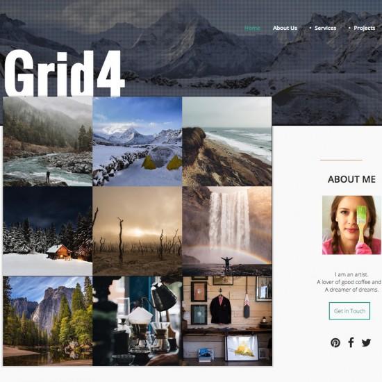JB Grid4 Joomla Template