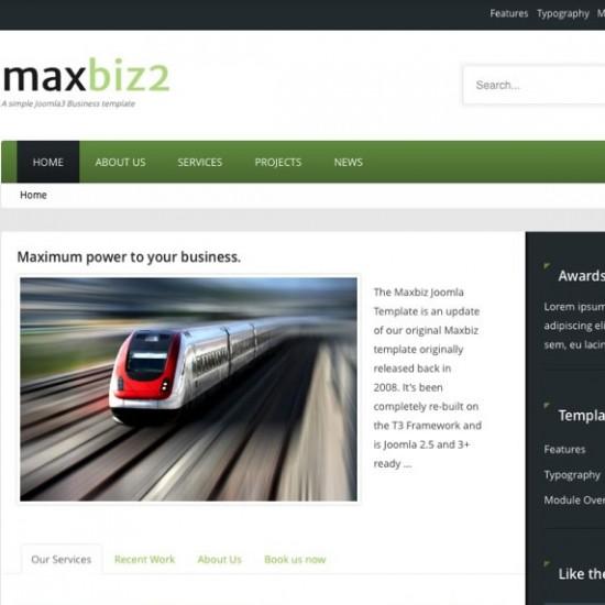 JB Maxbiz2 Joomla Template