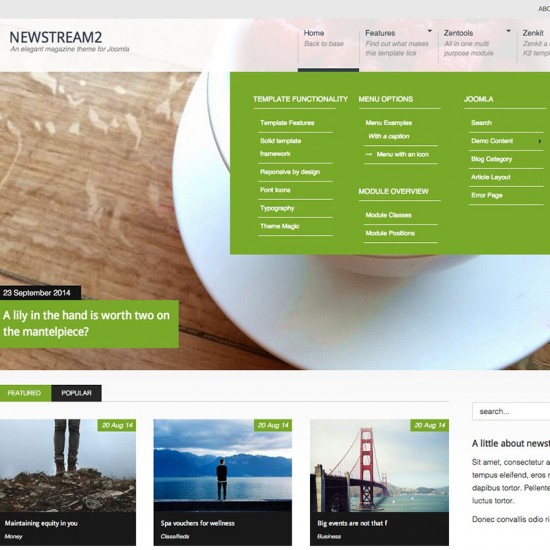 JB NewStream2 Joomla Template