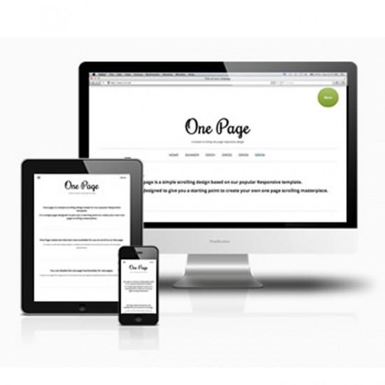 JB Onepage Joomla Template