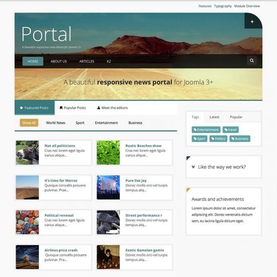 JB Portal Joomla Template