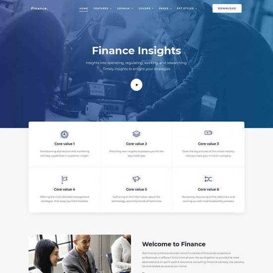 JSN Finance Joomla Template