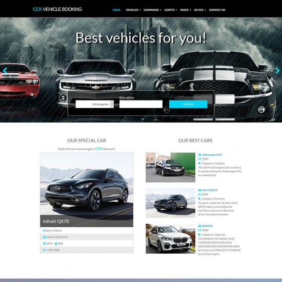 OrdaSoft CCK Vehicle Booking Joomla Template