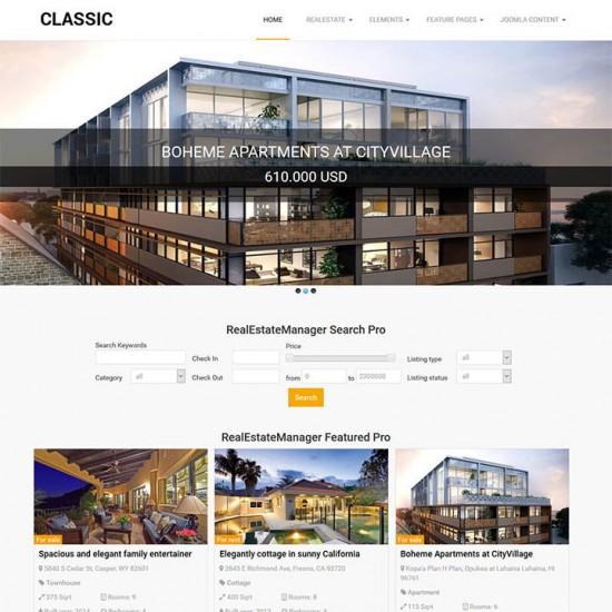 OrdaSoft Classic Real Estate Joomla Template