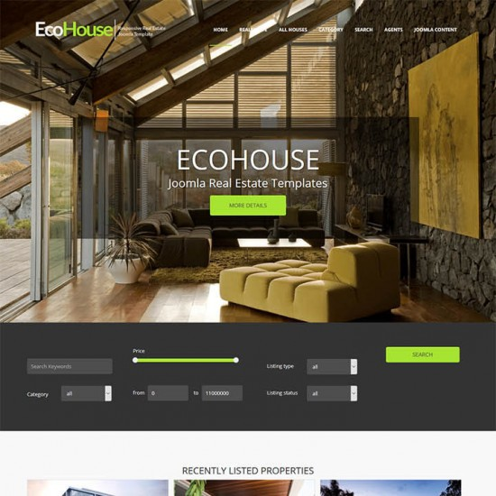 OrdaSoft Eco House Joomla Template