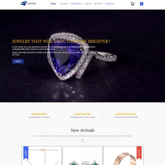 OrdaSoft Jewelry Joomla Template