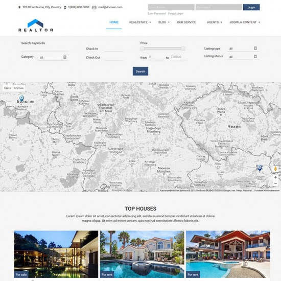 OrdaSoft Realtor Real Estate Joomla Template