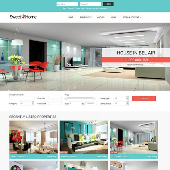 OrdaSoft Sweet Home Joomla Template