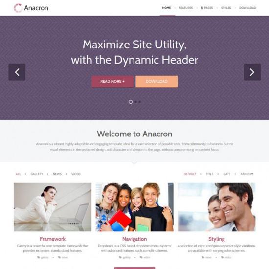 RocketTheme Anacron Joomla Template