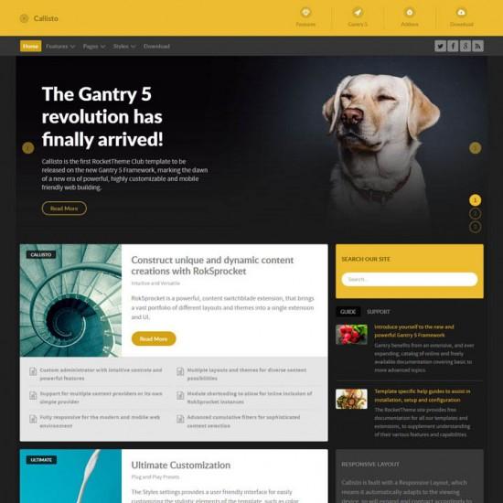 RocketTheme Callisto Joomla Template