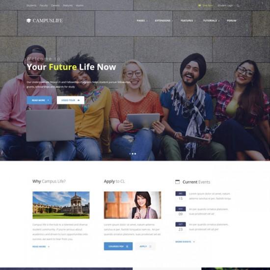 S5 Campus Life Joomla Template