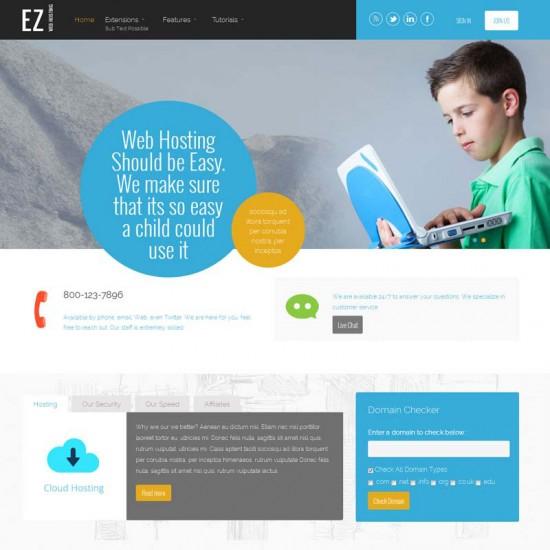S5 EZ Web Hosting Joomla Template