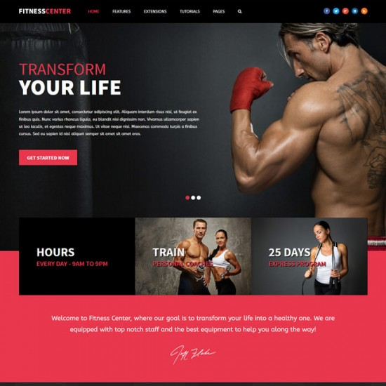 S5 Fitness Center Joomla Template