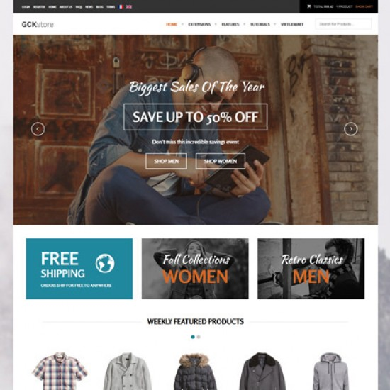 S5 GCK Store Joomla Template