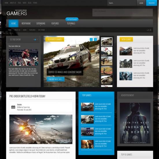 S5 Gamers Joomla Template
