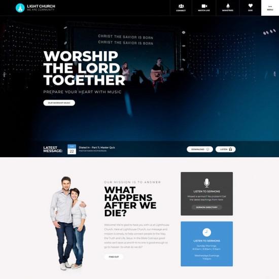 S5 Light Church Joomla Template