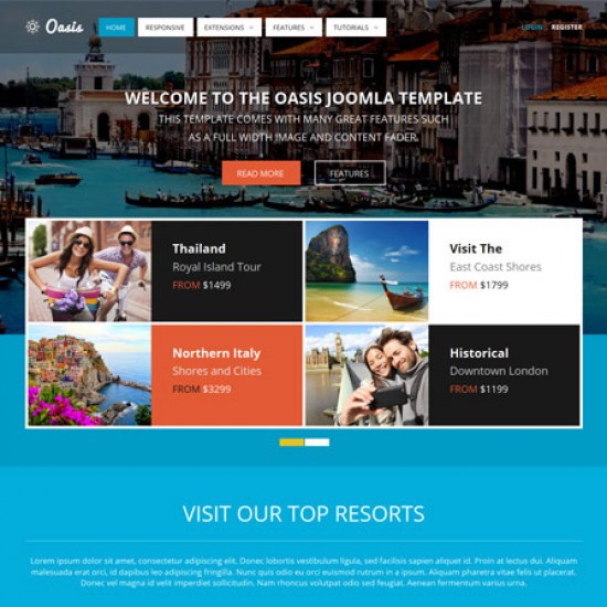 S5 Oasis Joomla Template