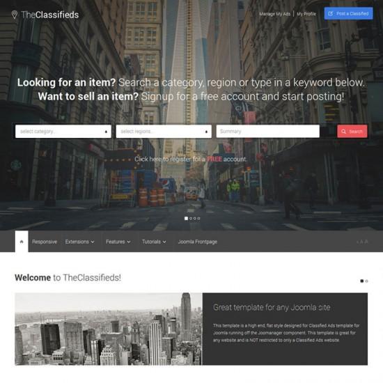 S5 TheClassifieds Joomla Template