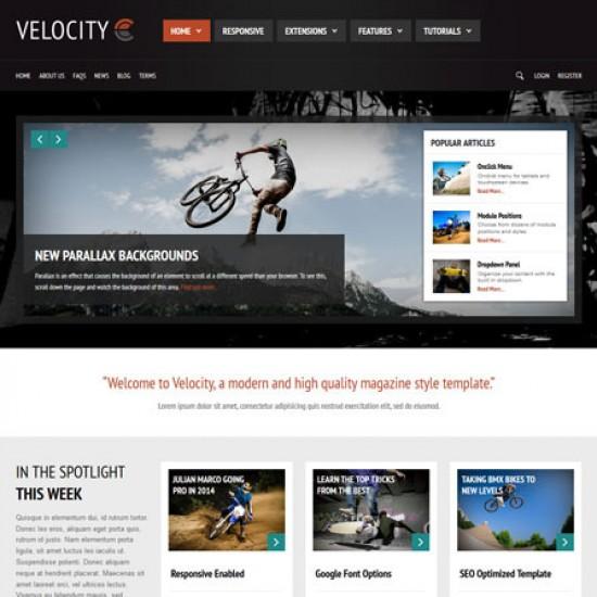 S5 Velocity Joomla Template