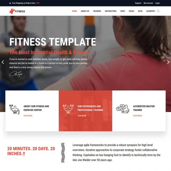 ThemeXpert Fitness Joomla Template