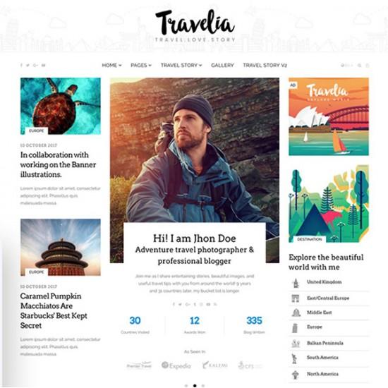 Travelia Joomla Template