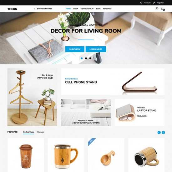VirtuemartTemplates Theon Shop Joomla Template